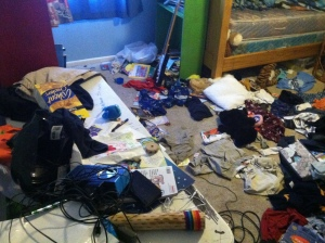 BEFORE: A MAJOR MESS!