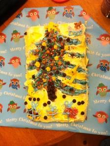 Greg's Christmas themed cake of love and joy