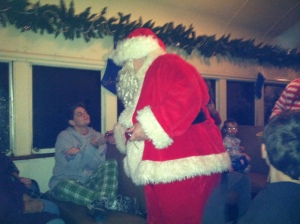 Santa brings a bell for all the good girls and boys, even the grown up ones.