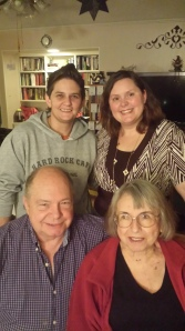 My mom, dad, sister, and me at Thanksgiving