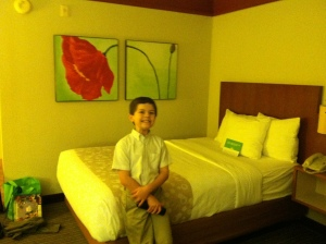 Our hotel for the night. Ben thought it was beautiful