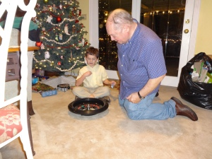 Grandpa got a new roulette wheel.