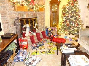 Setting up for Santa's visit