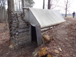 This really cool cabin/tent combination that prisoners built themselves (this is more than likely a recreation, but still). Basically they were just left out there to their own devices. If they wanted shelter, they had to make it themselves.