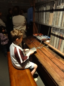 """The chained books made the kids excited: """"It's just like your Library screensaver!"""""""
