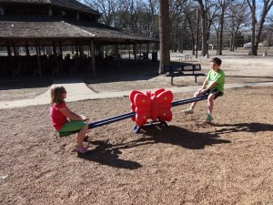 Teeter-tottering with the cousins