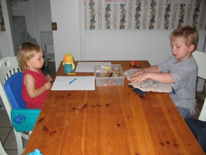 One year we had cousins and still did our daily theme schedule.  This photo is from years ago, obviously. :)