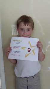 Greg is the Star Student for the last six weeks!!