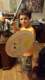 Ben & his shield