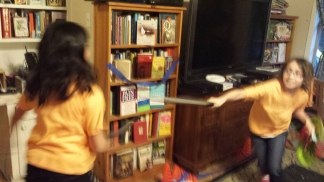 Girls sword fighting. Who could ask for more?