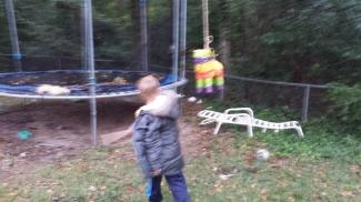 Trying to kill the Minotaur.