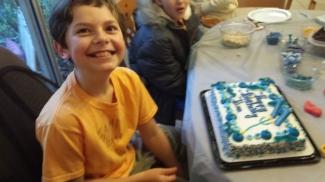 Ben loves his birthday....